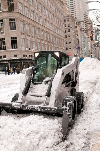Snow Storm, December 26, 2010, New York City, 5th Avenue, 59th Street vicinity, Manhattan, : Stock Photo