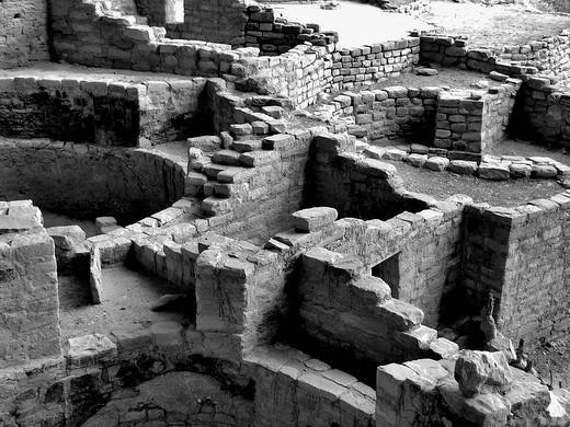 Steps and walls, Long House ruins, Mesa Verde Natl Park, Colorado, USA : Stock Photo