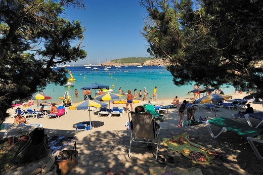 Beach, Ibiza, Balearic Islands, Spain : Stock Photo