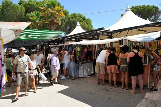 Stock Photo: 1566-688925 Hippy market in Santa Eulalia. Ibiza, Balearic Islansd, Spain