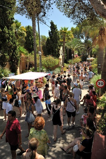 Hippy market in Santa Eulalia. Ibiza, Balearic Islansd, Spain : Stock Photo
