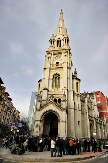 Church of San José, Bilbao, Spain : Stock Photo