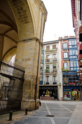 Old town of Bilbao  Biscay  Basque Country, Spain : Stock Photo