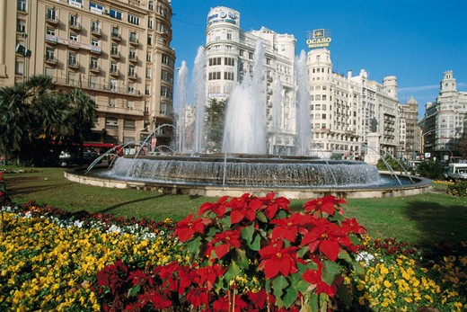 Stock Photo: 1566-690859 Plaza del Ayuntamiento (Town Hall Square). Valencia, Spain