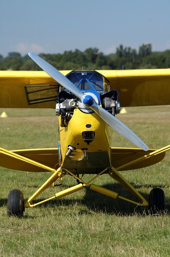 Piper Cub J-3 is an historic and also world famous light aircraft trainer : Stock Photo