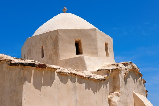 Byzantine Church of Komiaki Hill village : Stock Photo