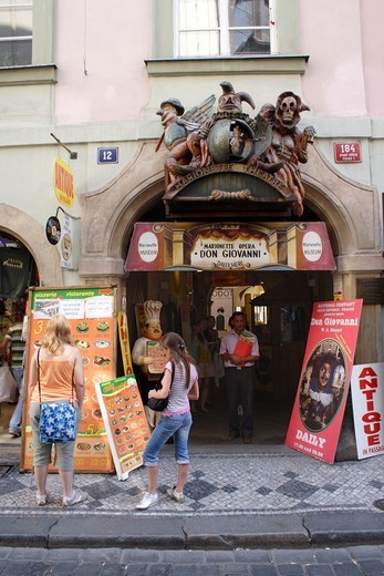 Don Giovanni Marionette Theatre Old Town Prague : Stock Photo