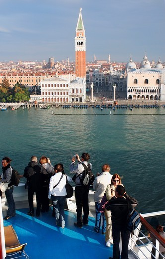 Stock Photo: 1566-692818 St  Mark´s square from cruise ship Costa Serena  Venice, Italy, Europe