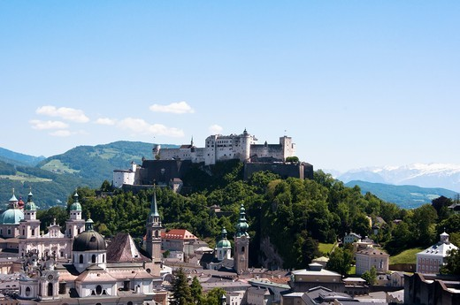 Historic Salzburg skyline, Austria : Stock Photo