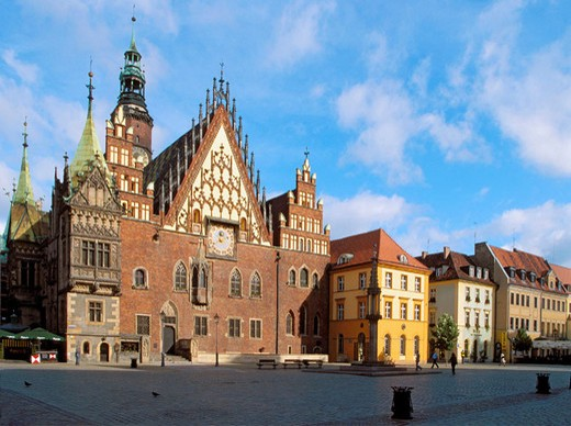 Stock Photo: 1566-694071 Town Hall on Main Market Square in Wroclaw of Poland