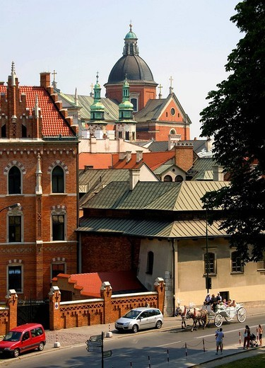 View on Seminary and St Peter and Paul and Andrew´s churches, Krakow : Stock Photo