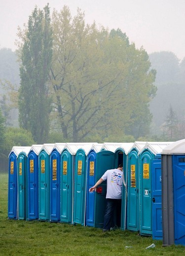 Poland, Krakow, public toilettes : Stock Photo