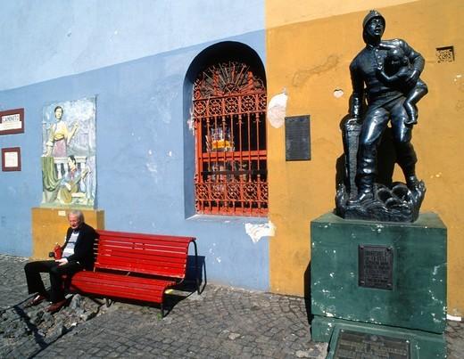 Argentina, Buenos Aires, La Boca, Caminito, : Stock Photo