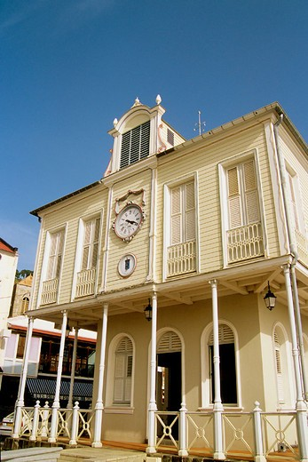 Stock Photo: 1566-696093 St-Pierre, colonial architecture. Martinique. Caribbean
