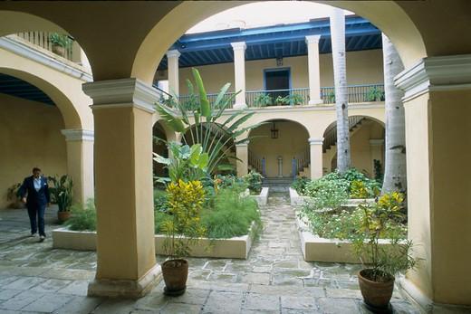 Palacio de los Condes de Casa Bayona, Colonial Art Museum. Havana. Cuba. : Stock Photo