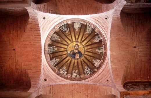 Mosaic decoration at Fethiye mosque.  Istanbul. Turkey. : Stock Photo