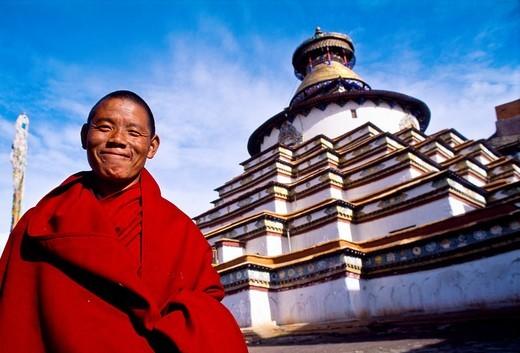 The Kumbum Stupa in Gyantse  Tibet´s largest  Pelkor Chode Monastery  Gyantse  Tibet  China. : Stock Photo