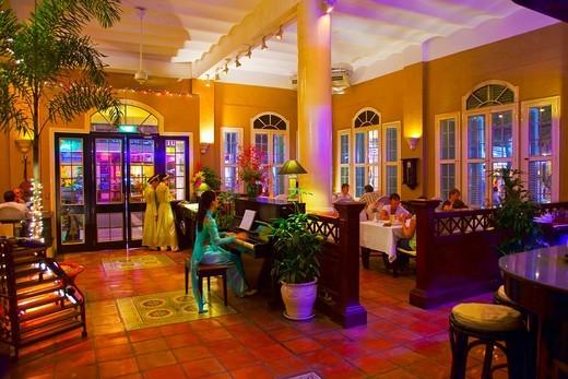 Stock Photo: 1566-696986 Vietnam House Restaurant. Ho Chi Minh City (formerly Saigon). South Vietnam.