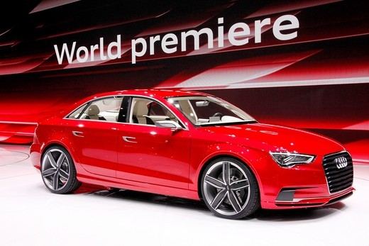 Stock Photo: 1566-697906 Geneva motor show , Audi A3 Concept Car