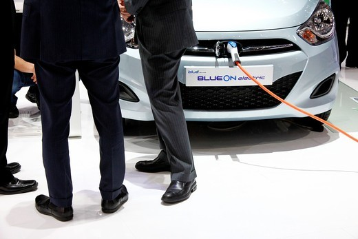 Geneva motor show , Hyundai Electric Car : Stock Photo