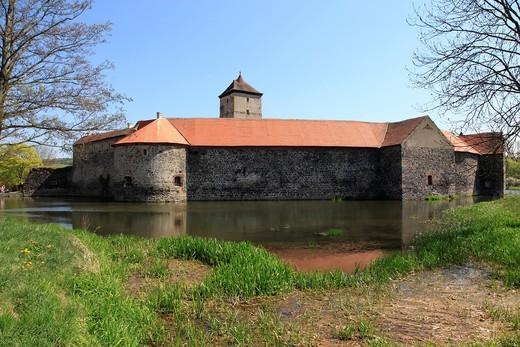 castle of Svihov Czechoslovakia, Sumava, Czech Republic, Europe. : Stock Photo