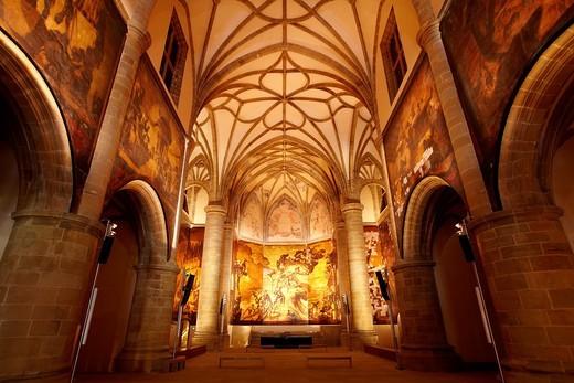 Pinturas de Jose Maria Sert, Iglesia del antiguo Convento Dominico del siglo XVI, Museo San Telmo, Donostia, San Sebastian, Gipuzkoa, Euskadi, Spain : Stock Photo