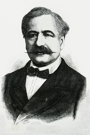 Stock Photo: 1566-699466 France-History-XIXc - Ferdinand de Lesseps - Ferdinand Marie, Vicomte de Lesseps, GCSI 19 November 1805 – 7 December 1894 was the French developer of the Suez Canal, which joined the Mediterranean and Red Seas in 1869, and substantially reduced sailing di. France-History-XIXc - Ferdinand de Lesseps - Ferdinand Marie, Vicomte de Lesseps, GCSI 19 November 1805 – 7 December 1894 was the French developer of the Suez Canal, which joined the Mediterranean and Red Seas in 1869, and substantially reduce