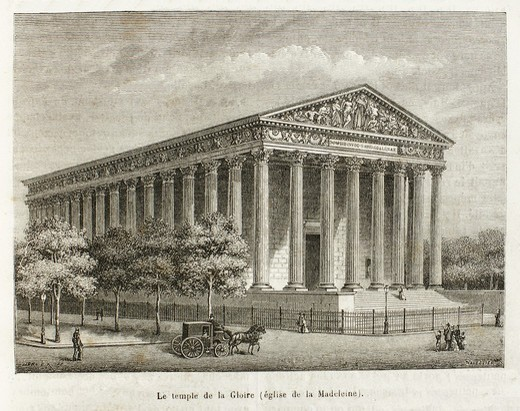 Stock Photo: 1566-699519 France-History-XIC - L´église de la Madeleine , Madeleine Church, more formally, L´église Sainte-Marie-Madeleine, less formally, just La Madeleine is a Roman Catholic church occupying a commanding position in the 8th arrondissement of Paris  It was design. France-History-XIC - L´église de la Madeleine , Madeleine Church, more formally, L´église Sainte-Marie-Madeleine, less formally, just La Madeleine is a Roman Catholic church occupying a commanding position in the 8th arrondissement of Paris  I
