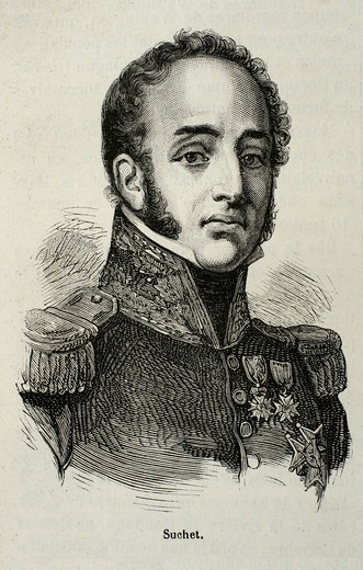 France-History-XIXc - Louis Gabriel Suchet, 1st Duc d´Albufera 2 March 1770 – 3 January 1826 was a Marshal of France and one of Napoleon´s most brilliant generals : Stock Photo