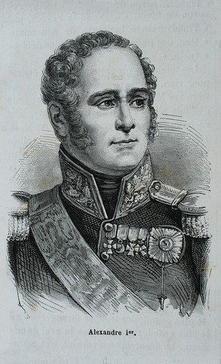 Russia-History-XIXc - Alexander I of Russia 23 December O S  12 December 1777 – 1 December O S  19 November 1825, also known as Alexander the Blessed Russian:  , Aleksandr Blagoslovennyi served as Emperor of Russia from 23 March 1801 to 1 December 1825 an. Russia-History-XIXc - Alexander I of Russia 23 December O S  12 December 1777 – 1 December O S  19 November 1825, also known as Alexander the Blessed Russian:  , Aleksandr Blagoslovennyi served as Emperor of Russia from 23 March 1801 to 1 Dece : Stock Photo