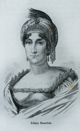Stock Photo: 1566-699599 France-History-XIXc - Nobile Maria Letizia Buonaparte née Ramolino1 Marie-Lætitia Ramolino, Madame Mère de l´Empereur 24 August 1750 – 2 February 1836 was the mother of Napoleon I of France
