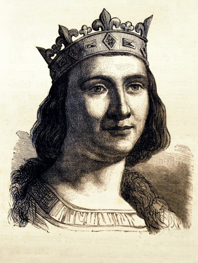 France-History- Louis IX 25 April 1214 – 25 August 1270, commonly Saint Louis, was King of France from 1226 until his death  He was also styled Louis II, Count of Artois from 1226 to 1237  Born at Poissy, near Paris, he was the sixth-great-grandson of Hug. France-History- Louis IX 25 April 1214 – 25 August 1270, commonly Saint Louis, was King of France from 1226 until his death  He was also styled Louis II, Count of Artois from 1226 to 1237  Born at Poissy, near Paris, he was the sixth-great-gra : Stock Photo