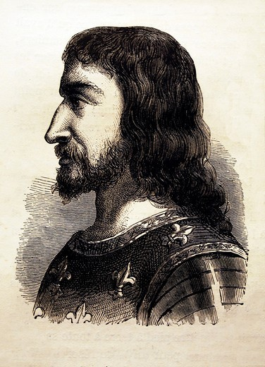 France-History- John II 16 April 1319 – 8 April 1364, called John the Good French: Jean le Bon, was the King of France from 1350 until his death  He was the second sovereign of the House of Valois and is perhaps best remembered as the king who was vanquis. France-History- John II 16 April 1319 – 8 April 1364, called John the Good French: Jean le Bon, was the King of France from 1350 until his death  He was the second sovereign of the House of Valois and is perhaps best remembered as the king who : Stock Photo