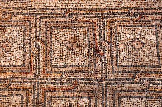 Necropolis mosaic of Tyre Sour, UNESCO World Heritage Site  Lebanon : Stock Photo