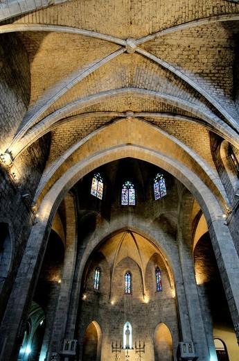 Parish church of Sant Pere, in Gothic. Figueres. Alt Empordà. Girona. Catalonia. Spain : Stock Photo