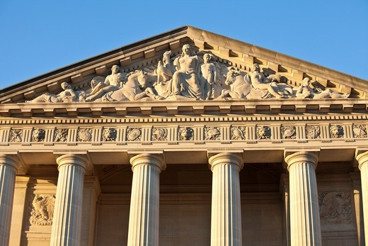 Stock Photo: 1566-702011 Late afternoon light on the neo classical facade of the EPA building