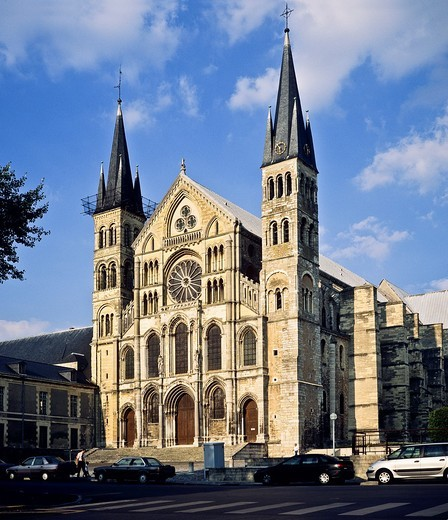 St-Rémi gothic basilica, 12th Century, Reims, Champagne, France : Stock Photo