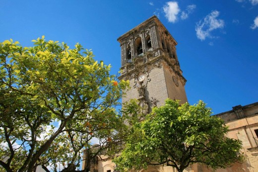 Stock Photo: 1566-702740 Church, Arcos de la Frontera, Andalusia, Spain