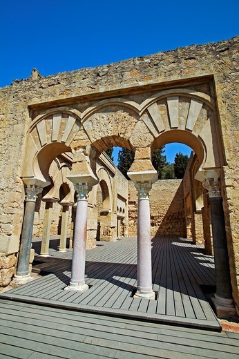 Stock Photo: 1566-704517 Ruins of Medina Azahara, palace built by caliph Abd al-Rahman III  Córdoba province, Andalusia, Spain