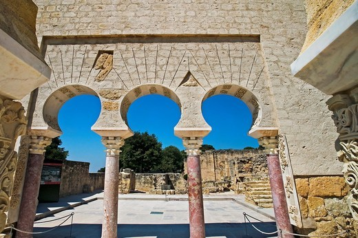 Ruins of Medina Azahara, palace built by caliph Abd al-Rahman III  Córdoba province, Andalusia, Spain : Stock Photo