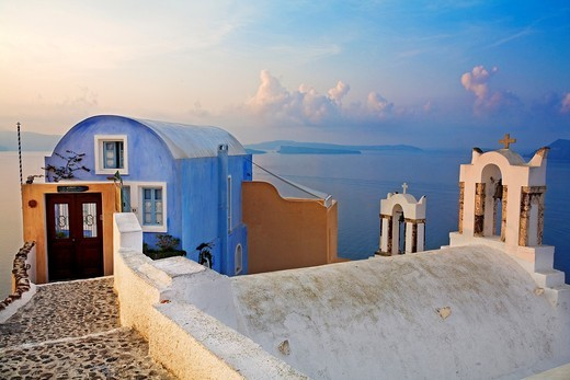 Stock Photo: 1566-704859 The village of Oia  Santorini, Cyclades Islands, Greece