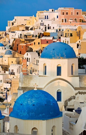 The village of Oia  Santorini, Cyclades Islands, Greece : Stock Photo