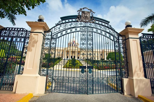 Palacio Nacional national palace the residence of the president, Santo Domingo, Dominican Republic, West Indies, Caribbean : Stock Photo