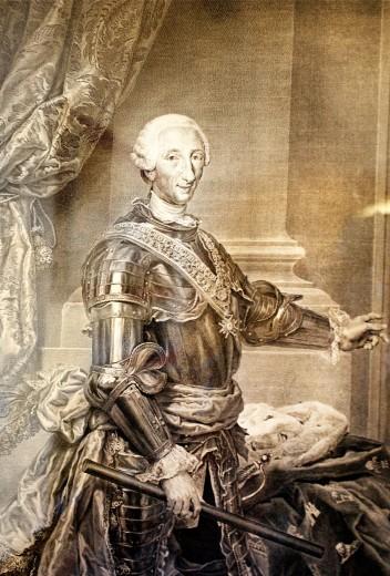 Painting of Carlos III, Santo Domingo, Dominican Republic, West Indies, Caribbean : Stock Photo