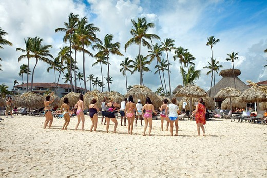 Bavaro beach, Punta Cana, Dominican Republic, West Indies, Caribbean : Stock Photo