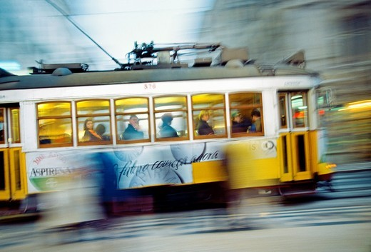 Tram  Lisbon  Portugal : Stock Photo