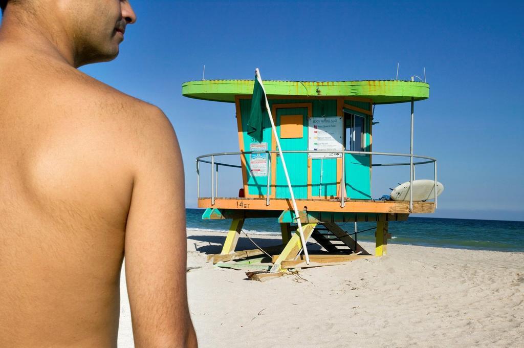 Stock Photo: 1566-706068 Lifeguard post in south beach, Art Deco District  Miami Beach  Florida  USA