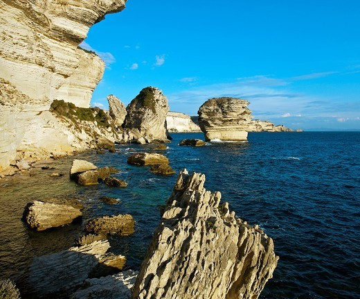 Cliffs  Bonifacio, Corsica Island  France : Stock Photo