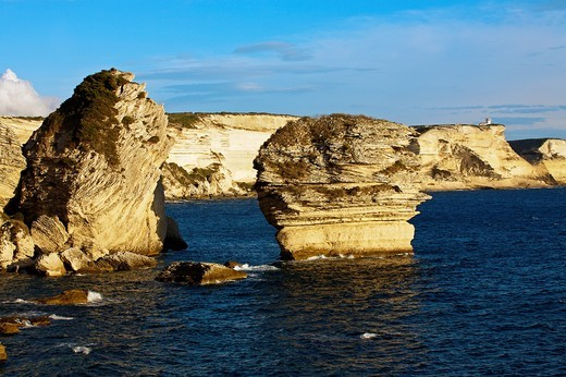 Stock Photo: 1566-706199 Cliffs  Bonifacio, Corsica Island  France
