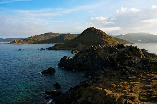 The coast near the Iles Sanguinaires  Corsica Island  France : Stock Photo